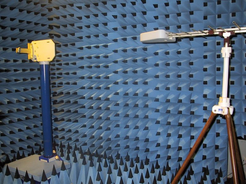 Measurements in an anechoic chamber